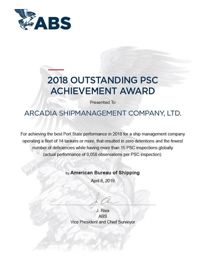 PSC PERFORMANCE AWARD BY ABS